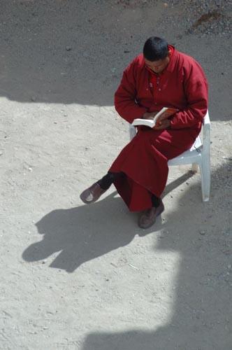 Monk in Hemis Monastery
