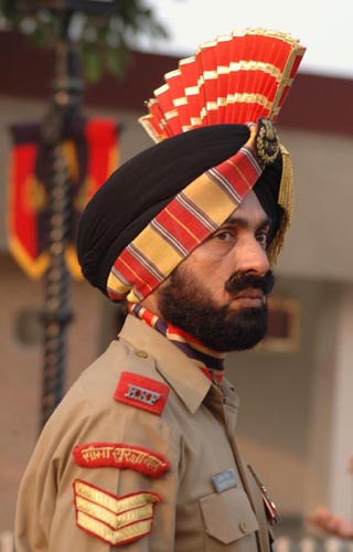 Soldier at Wagha Border