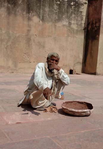 Worker at Fatehpur Sikri