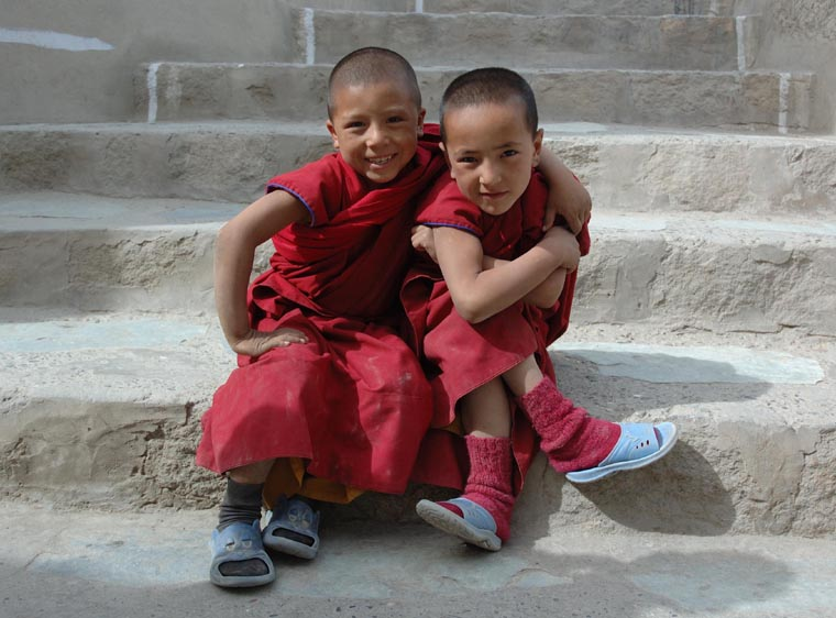 Young Monks in Ladakh